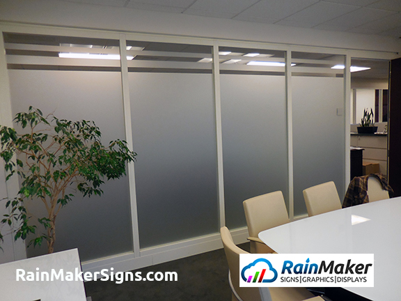 Rainmaker Signs Frosted Glass Film Add Privacy To Ubs