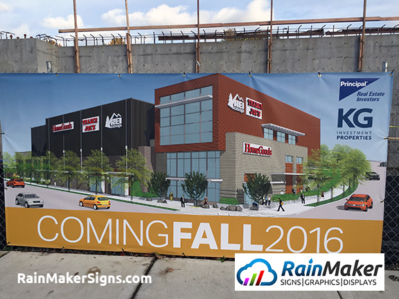 Construction Banner In Bellevue Wa For Kg Investment