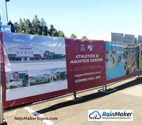 Construction Fence Banner In Tacoma Wa For University Of