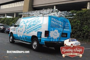 Ford E-150 Wrap for Painting Company Colors Bellevue Roads