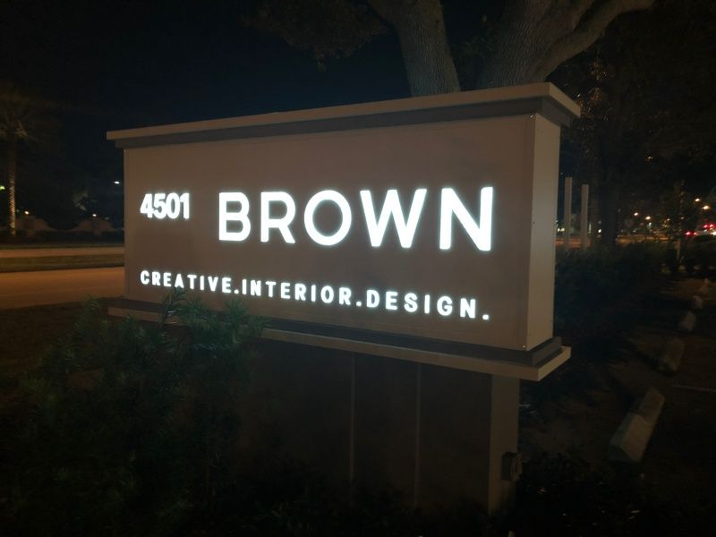 Benefits of Illuminated Monument Sign - Sign Partners, Boca Raton FL