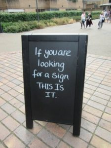 Sidewalk Sign