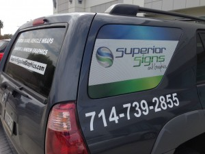 window wrap, perforated vinyl, vehicle window graphics