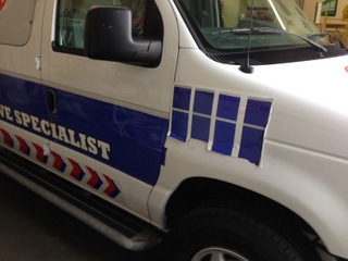 Examples of repaired vehicle wraps