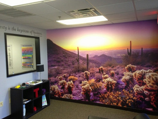 How are vinyl wall murals made