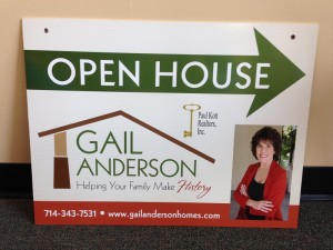 Custom Open House signs