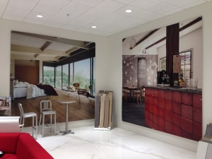 Product showroom wall graphics Orange County