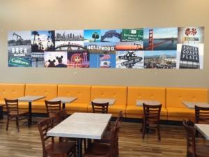 Restaurant wall murals for Orange County