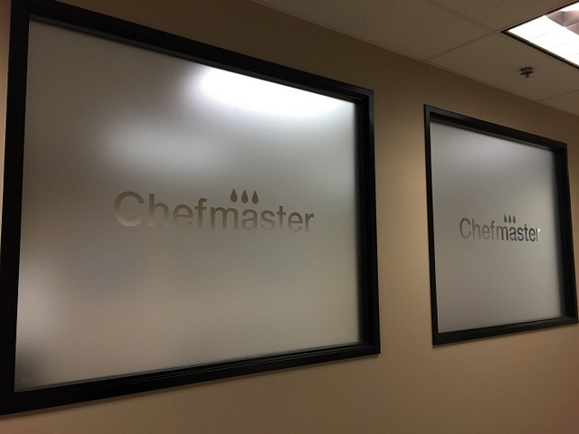 Frosted and Etched Vinyl Window Graphics Orange County