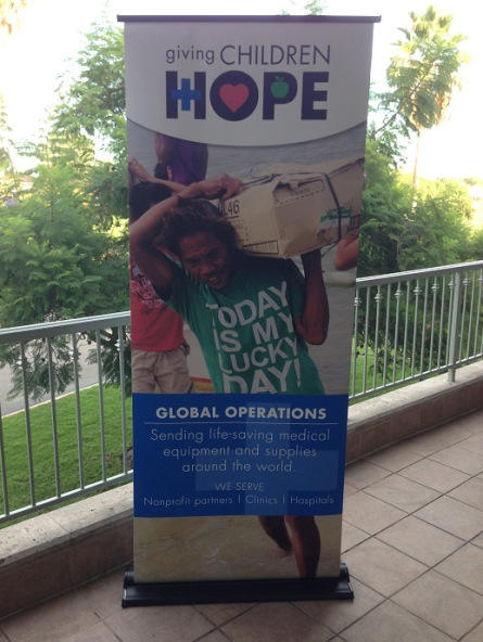 Retractable banner stands for fundraisers in Orange County
