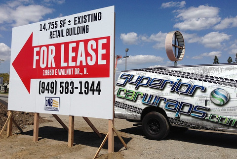 Commercial For Lease Signs Orange County
