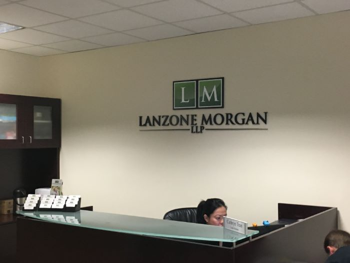 Reception Area Logo Wall Signs For Law Firms In Orange County CA