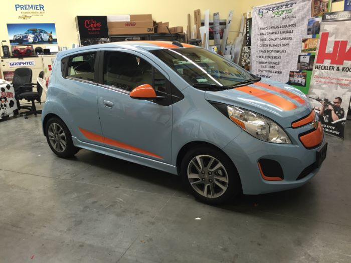 Used Chevy Spark >> Custom Car Stripes and Graphics for Commuter Cars in Orange County
