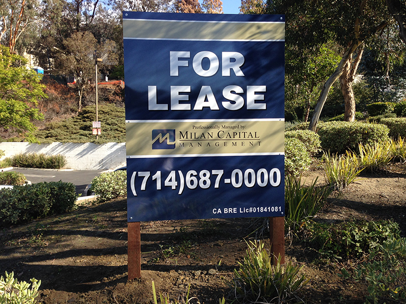 Commercial Property Quot For Lease Quot Signs In Orange County