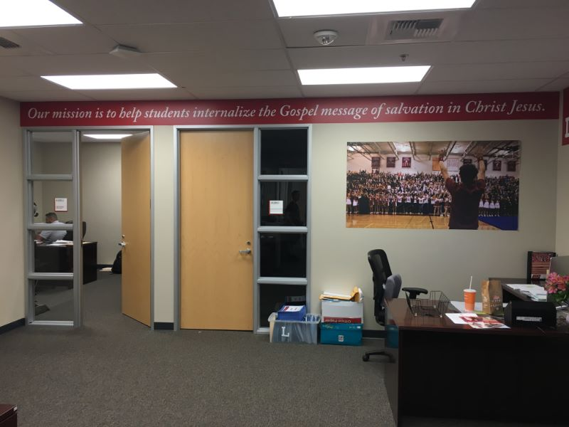 Can Your Business Or School Achieve What This High Succeeded In Doing Yes Mission Statement Wall Graphics Orange County CA