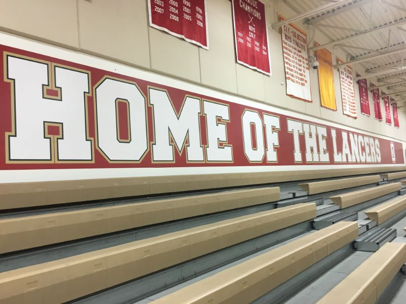Wall Wraps for school gyms in Orange County CA