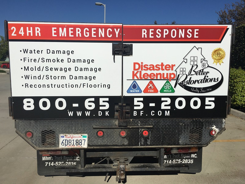 Stakebed truck graphics in Placentia CA