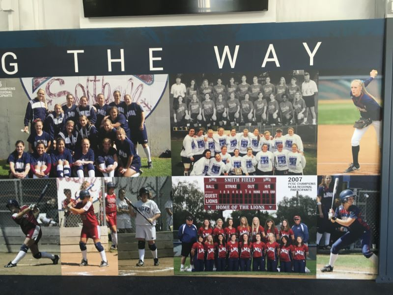 Wall Graphics Brighten Softball Facility at Loyola Marymount University!