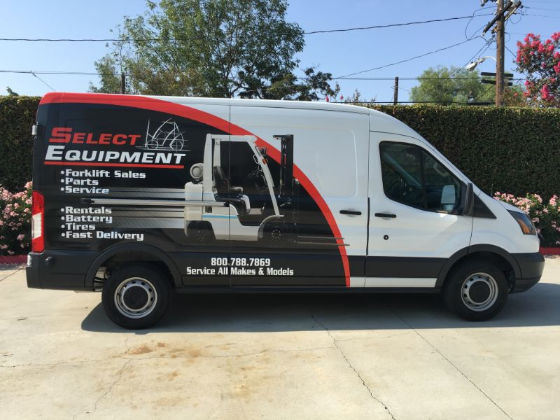 Fleet Vehicle Graphics For Select Equipment In Buena Park