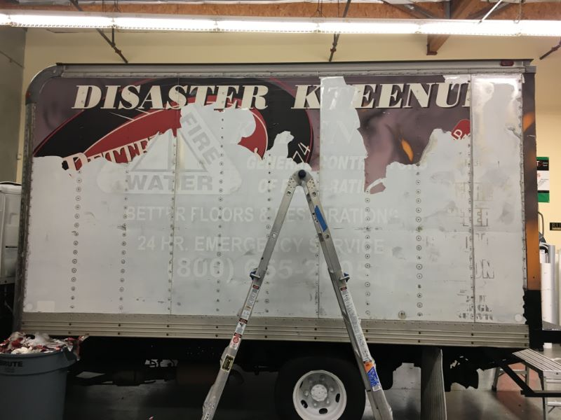 fleet graphics for disaster clean up companies in Orange County CA