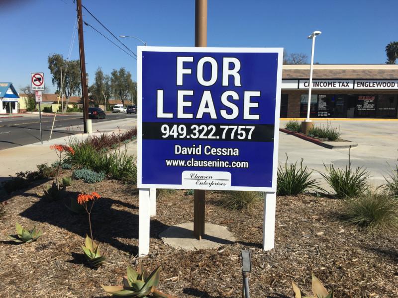 Anti-Graffiti For Lease Signs in Orange County CA