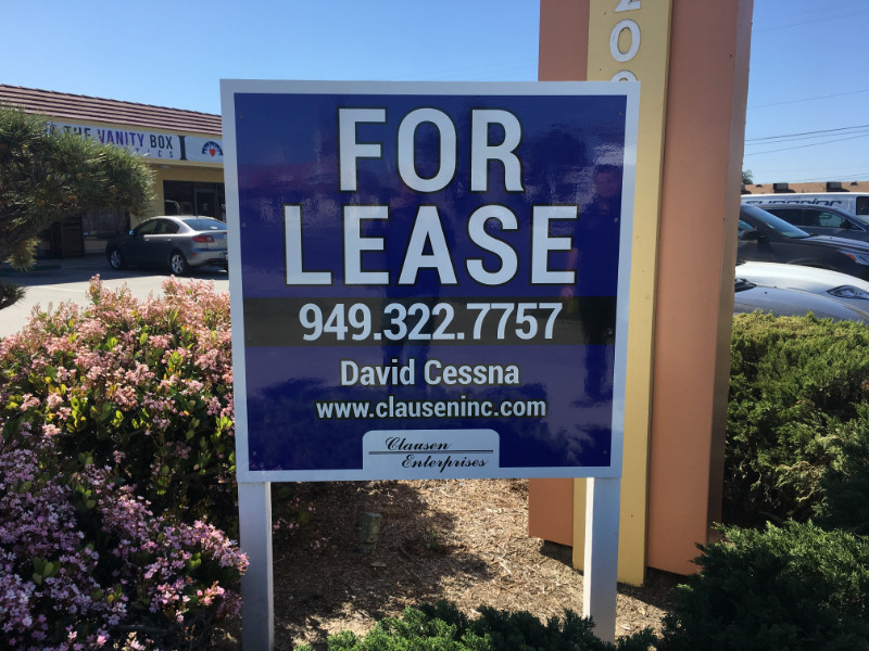 Commercial For Lease Signs in Orange County CA