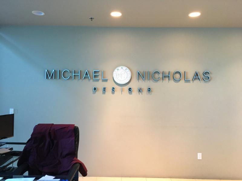 Custom Logo Lobby Signs in Fullerton CA