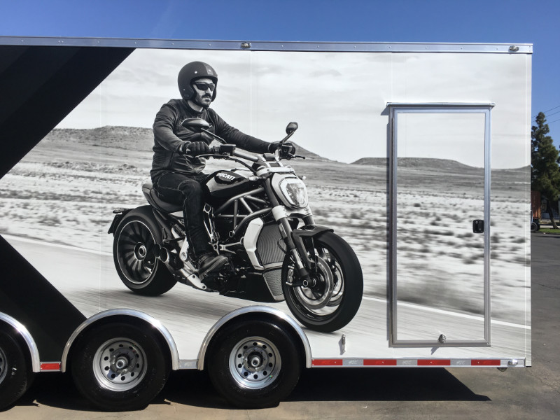 Motorcycle Trailer Wraps in Orange County CA
