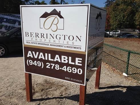 Space Available Real Estate Signs in Orange County CA