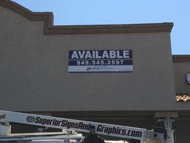 For Lease Banners in Orange County CA