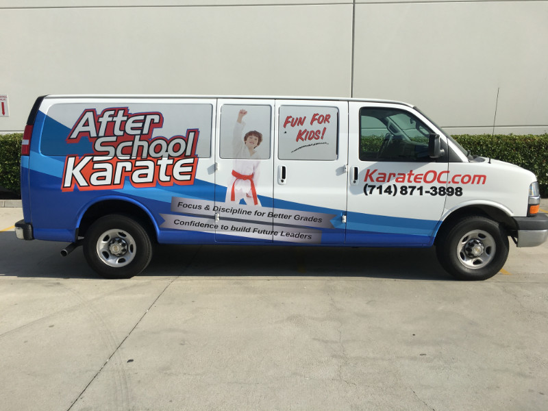 passenger van wraps in Fullerton CA