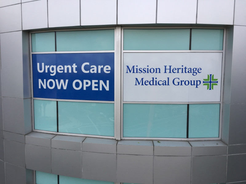Medical Center Window Graphics Announce Urgent Care