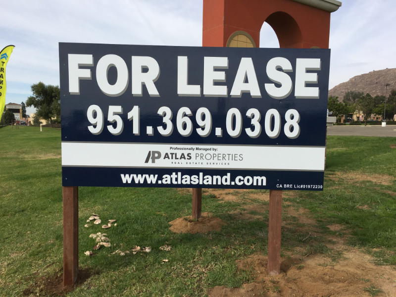 """commercial property """"For Sale"""" signs"""
