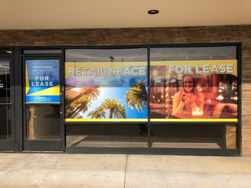 Commercial Space For Lease Window Graphics