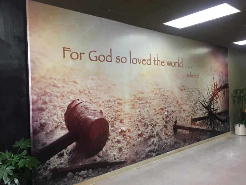 Inspiring Wall Mural for Calvary Chapel in Orange County