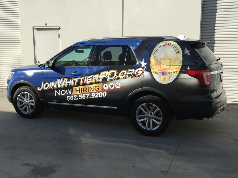 Whittier Police Vinyl Vehicle Wrap Helps Attract New Recruits