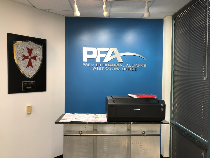 3D Lobby Logo and Conference Room Signs for West Covina Business ...