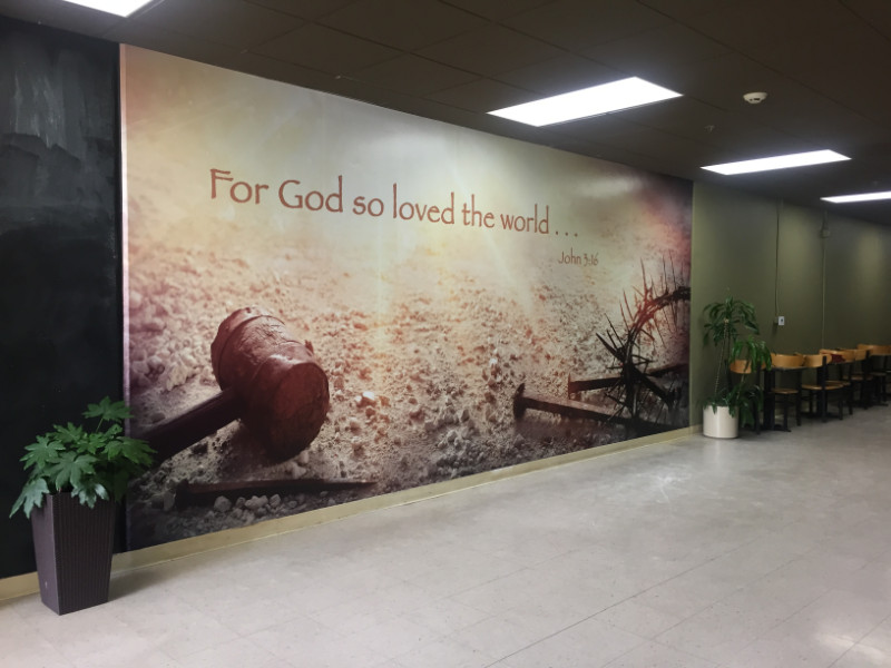Inspiring Wall Mural for Calvary Chapel in Orange County