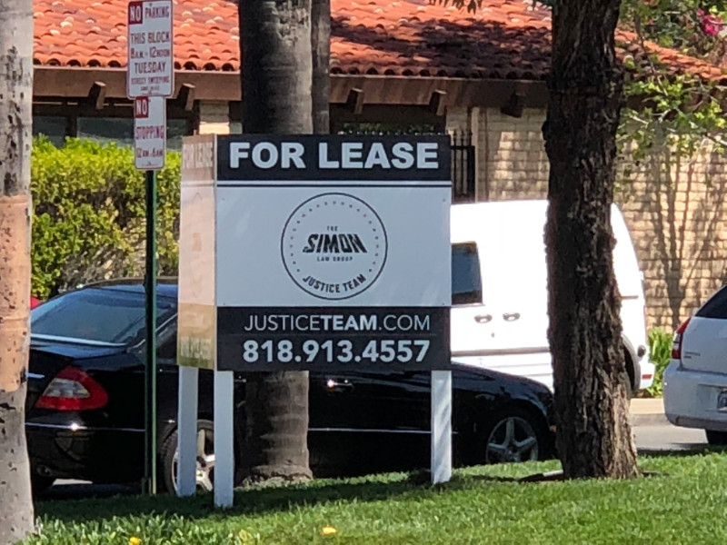 "anti-graffiti commercial property ""For Lease"" sign"