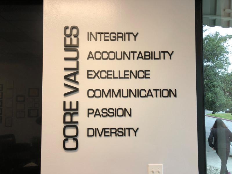 3D Office Wall Lettering In Baldwin Park CA