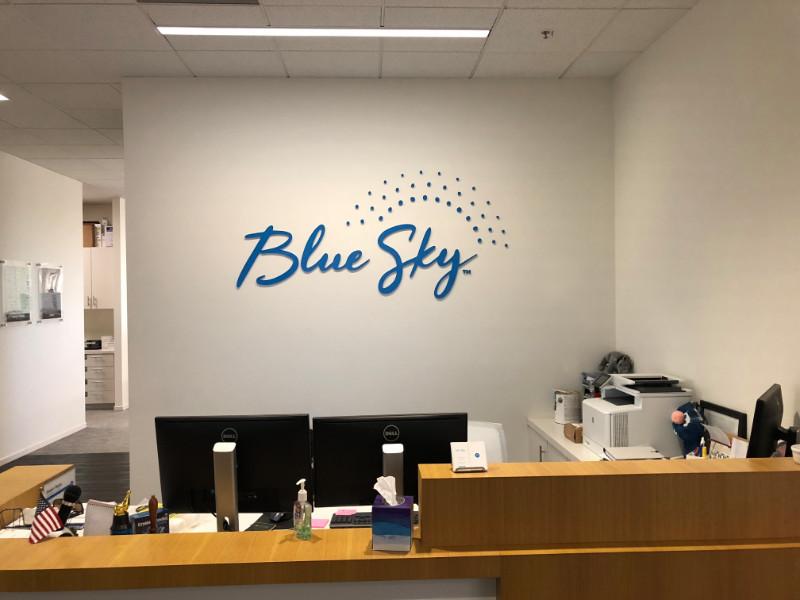 3D Letter Logo Lobby Signs Newport Beach CA