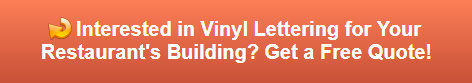 Free quote on vinyl lettering for buildings in Fullerton CA
