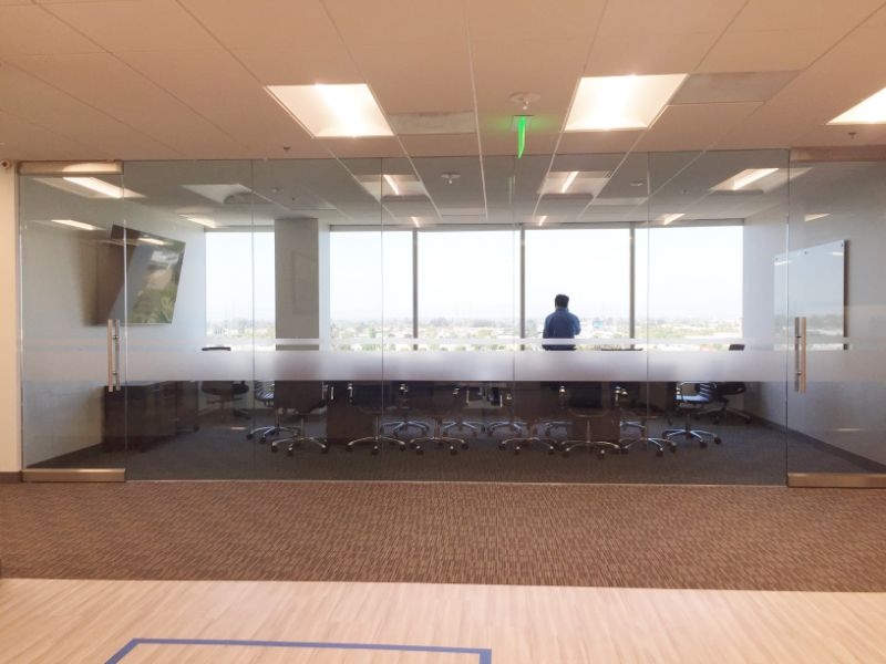 Frosted Window Graphics for Conference Rooms in Anaheim CA