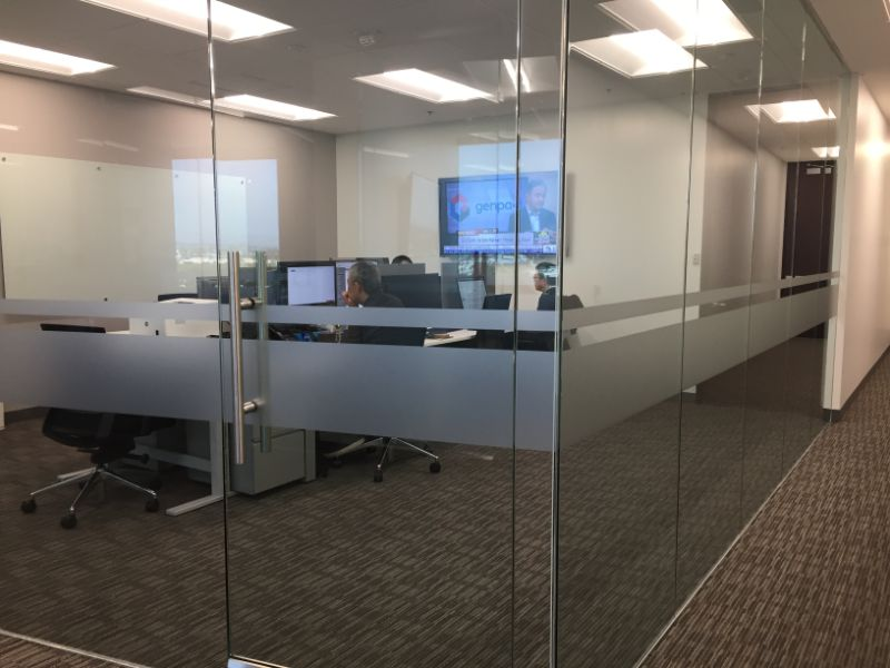 Etched and Frosted Glass Graphics in Anaheim CA