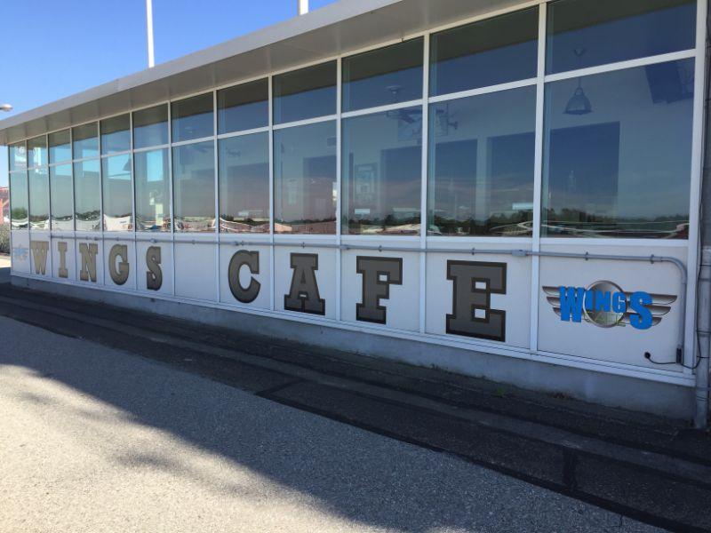Exterior Vinyl Building Lettering in Fullerton CA