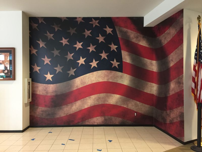 American Flag Wall Mural For 9 11