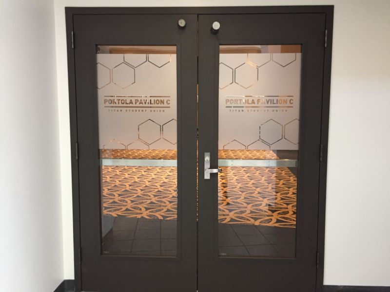 frosted glass graphics in Fullerton CA
