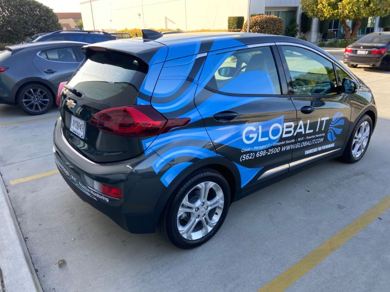 Custom Vehicle Graphics Advertise on Busy Los Angeles Freeways for Whittier IT Company