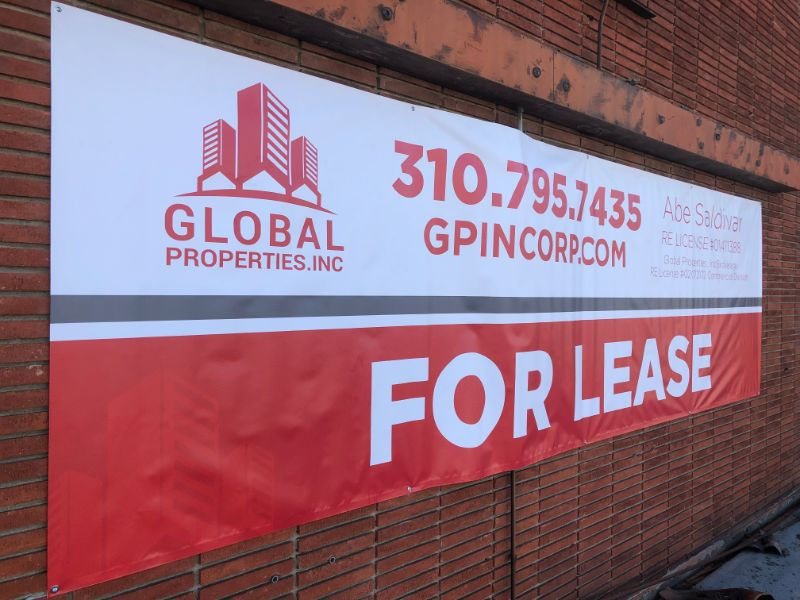 Commercial Property For Lease Banners in La Habra CA