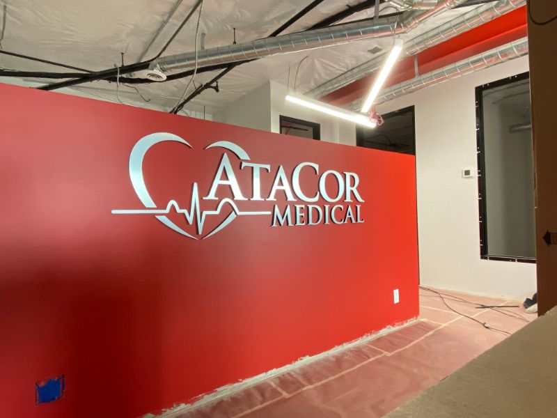 Custom Lobby Logo Sign Options for Offices in Orange County California